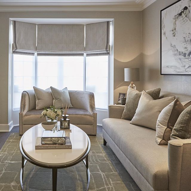 Sophiepatersoninteriors On Instagram We Made This Living Room Feel Much More Spacious By Roman Blinds Living Room Living Room Blinds Bay Window Living Room