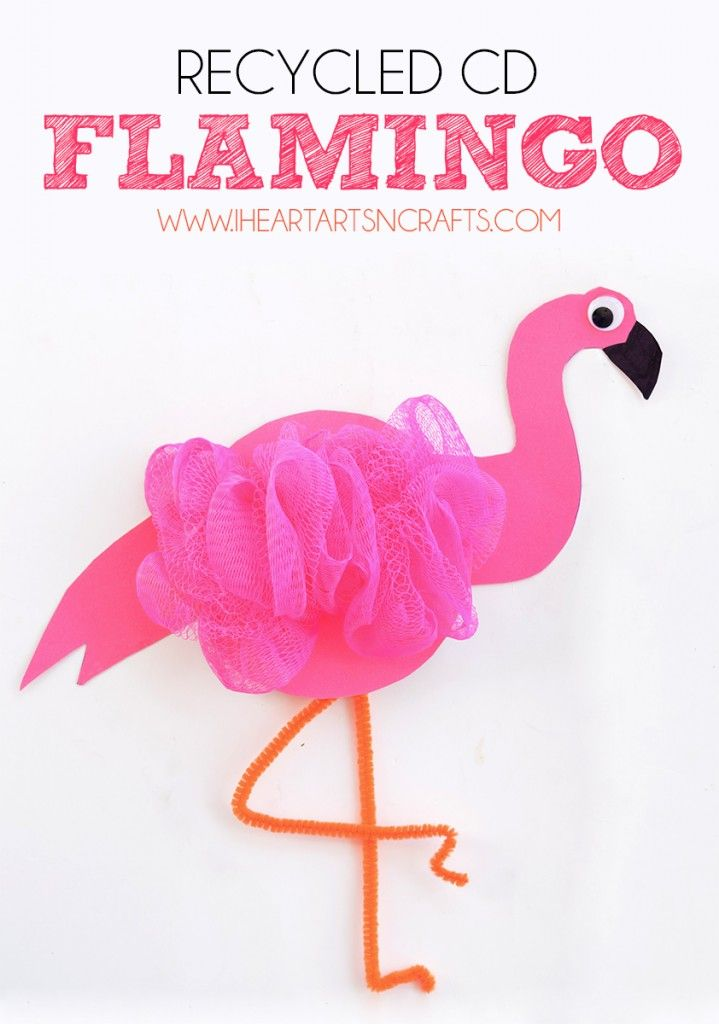 Recycled Cd Flamingo Kids Craft Kid Blogger Network Activities