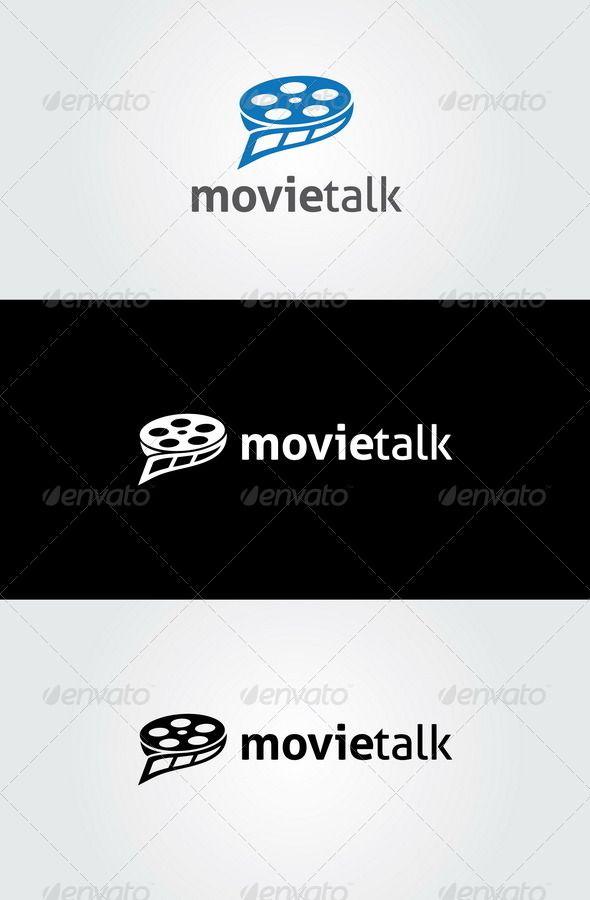 Movie Talk Logo Template