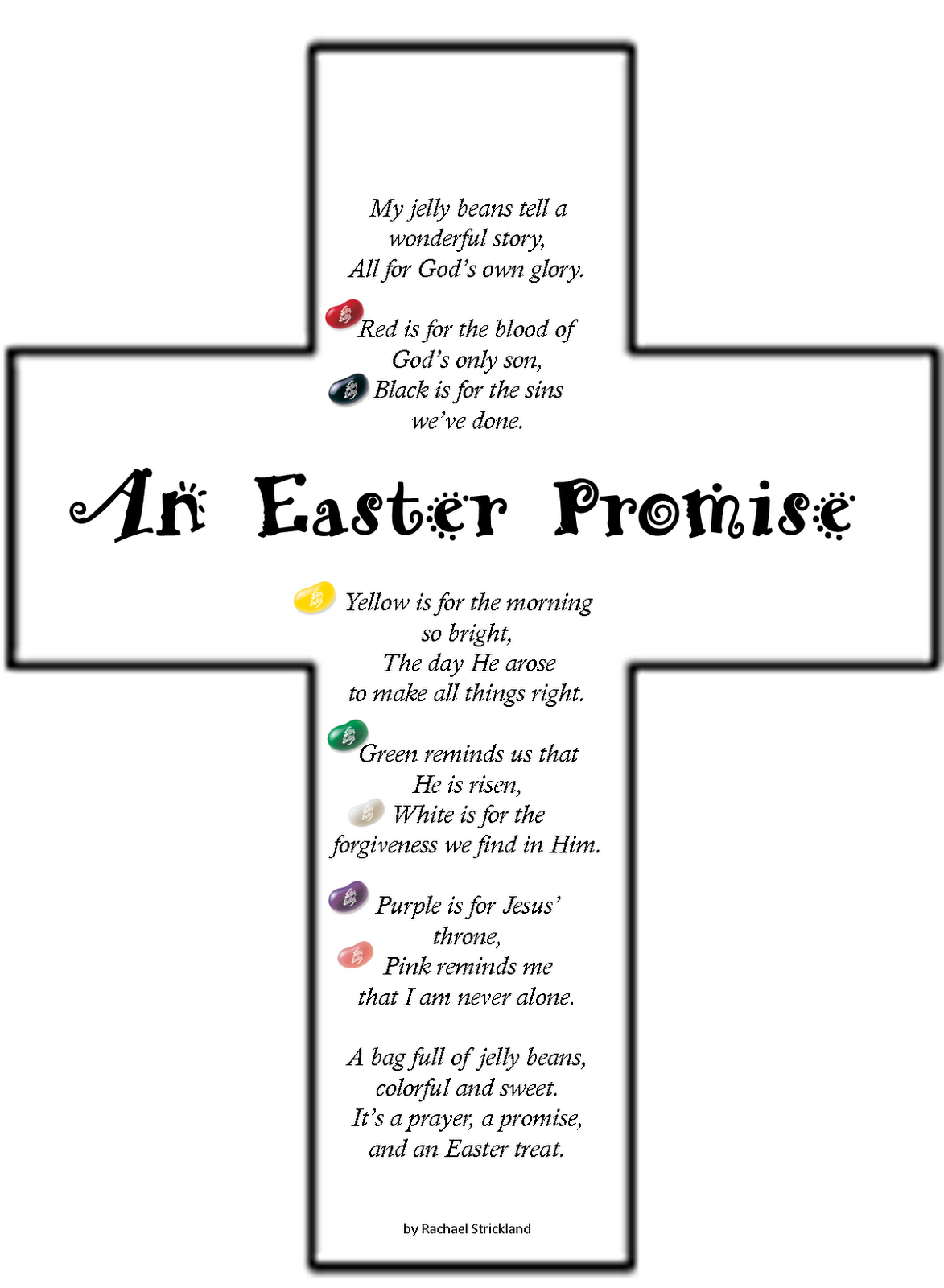 Teaching Integrity Easter Jelly Bean Poem