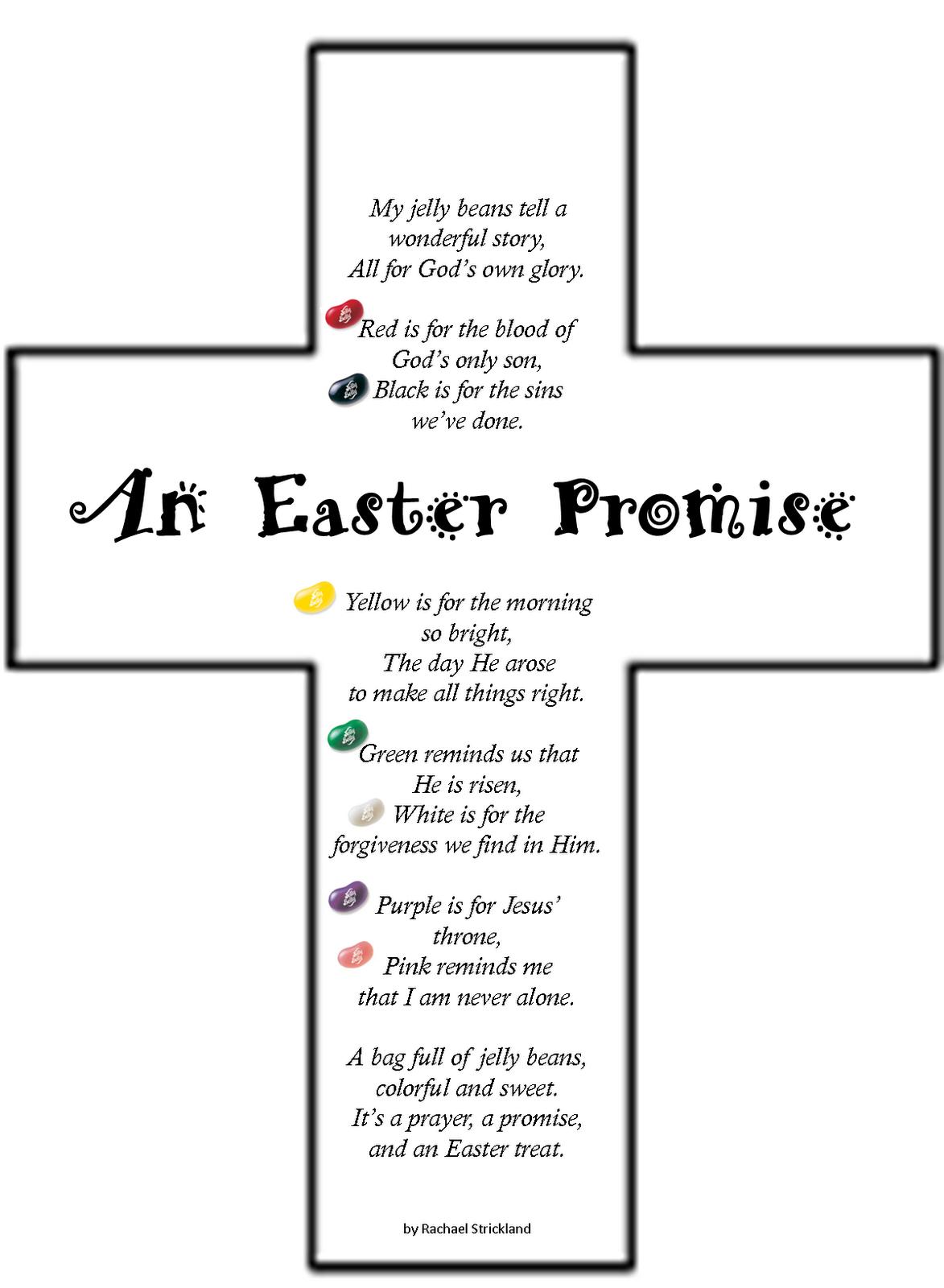 Teaching Integrity Easter Jelly Bean Poem