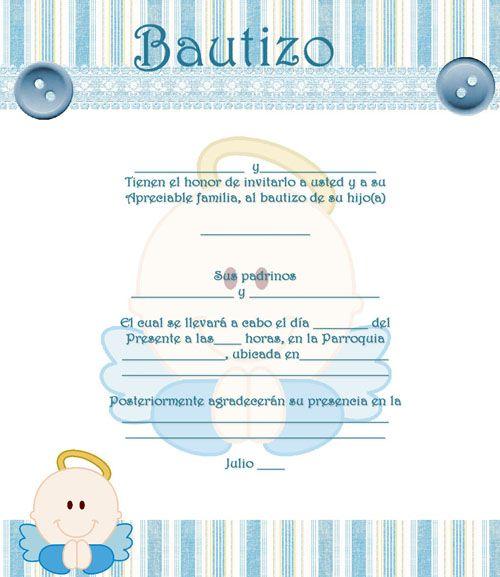 Invitaciones para Bautizo para imprimir Baby Shower Ideas