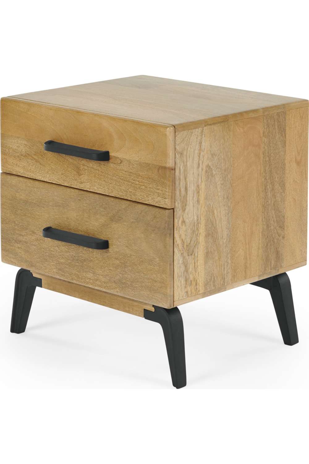 Wood And Metal Bedside Table: MADE Mango Wood Bedside Table