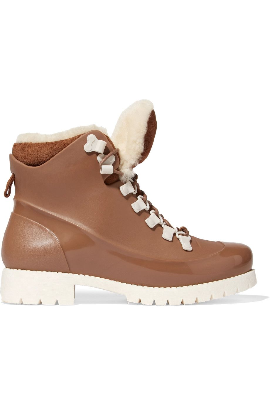 77b22814ba5b AUSTRALIA LUXE COLLECTIVE Rubstep shearling and rubber boots.   australialuxecollective  shoes