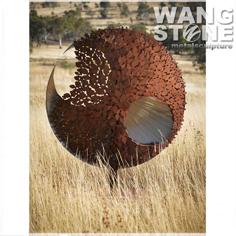 New Design Corten Steel Outdoor Metal Garden Art Wholesale - Buy ...