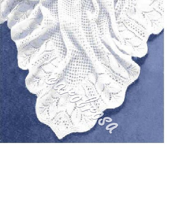 Knitting Pattern - Heirloom Shawl - Baby shawl pattern | Canastilla ...