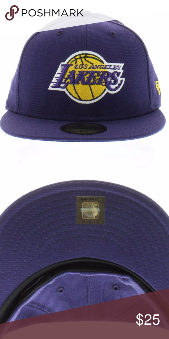 426ea29cd90 Los Angeles Lakers Purple Hat Los Angeles Lakers Purple Team Colors 59fifty  1616 New Era Accessories Hats