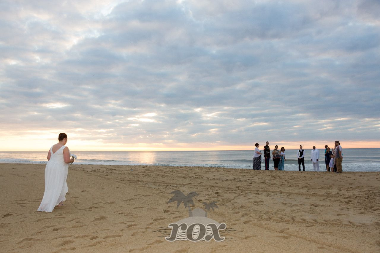 Majestic Sunrise For This Beach Bride During Her Ocean City Maryland Wedding