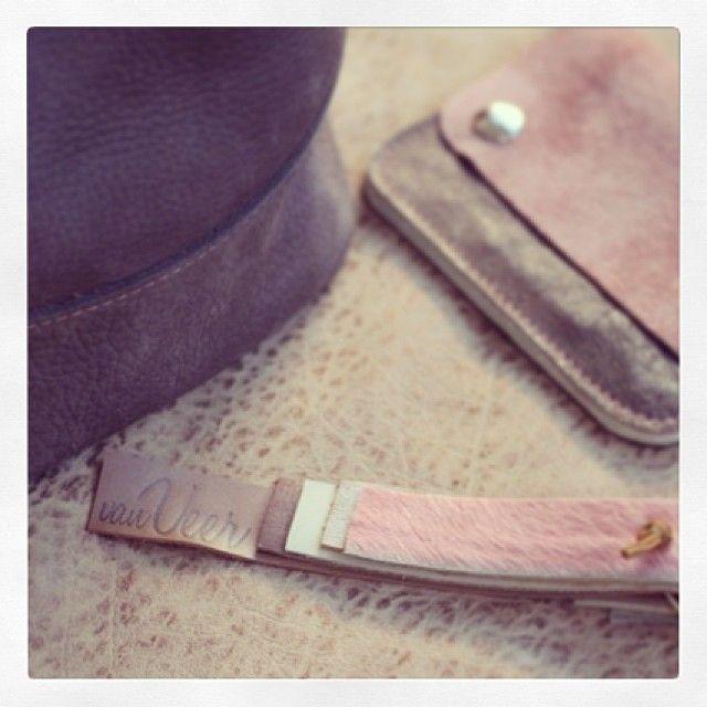 all your pink accessories by Van Veer. Yummie. #leathergoods #leatherwallet #keycord www.vanveer.nl