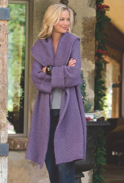 You will love snuggling into the exaggerated shawl collar of this so-soft cardigan. Several colors available.