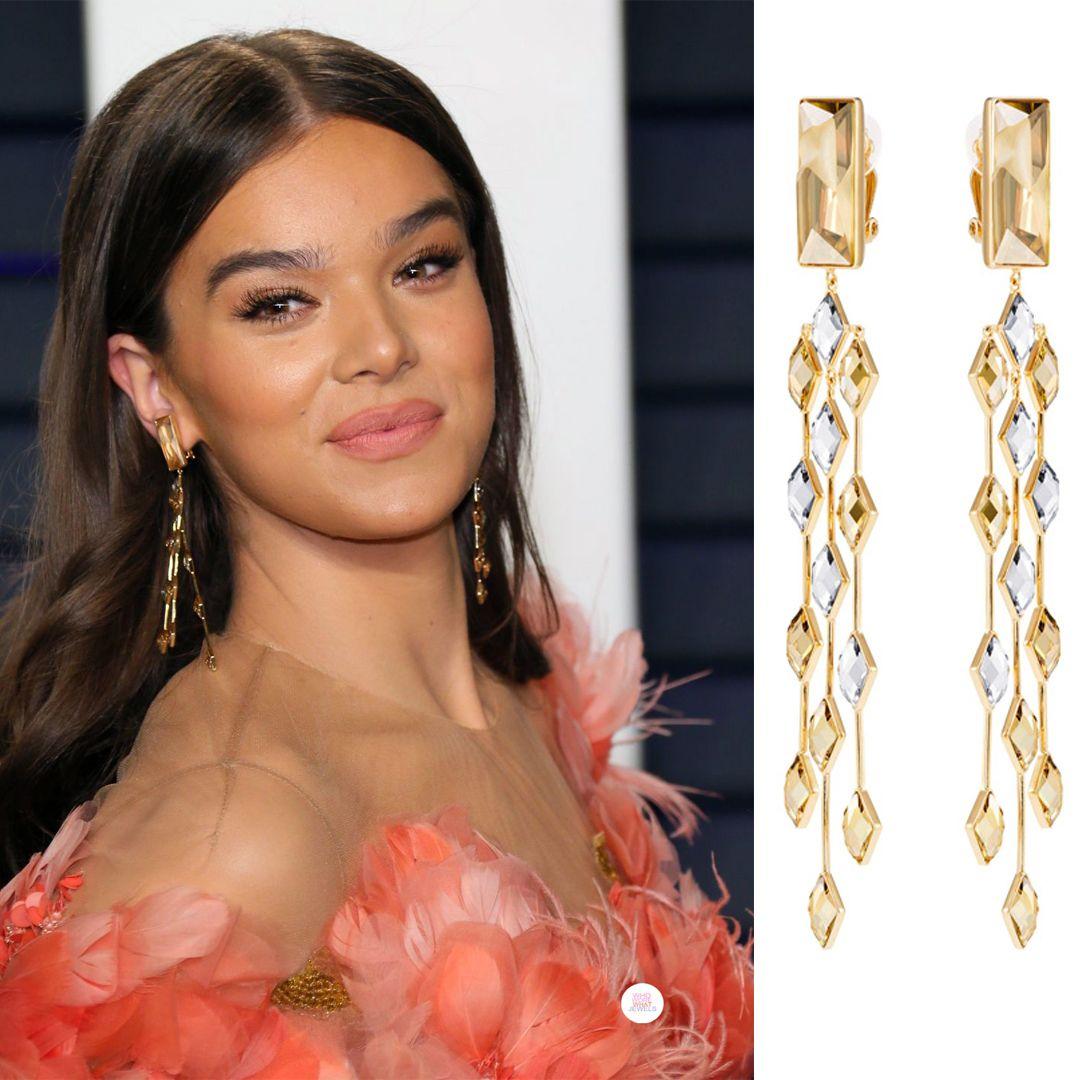 Zoe Kravitz Oscars Bra: Hailee Steinfeld Wearing Swarovski Earrings At The 2019