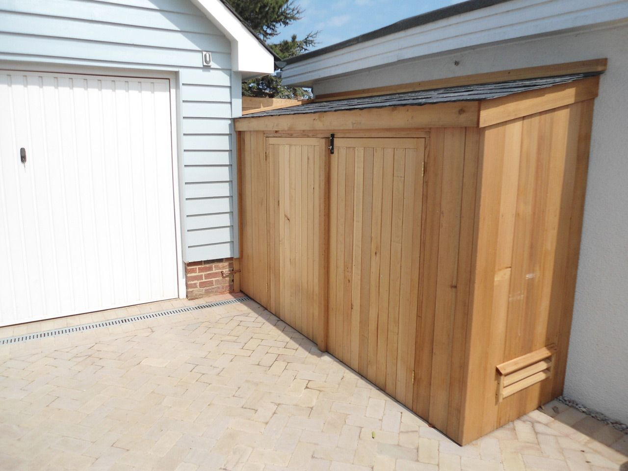 narrow with garden shed spanbilt storage lachlan outside cheap slimline outdoor sheds townhouse