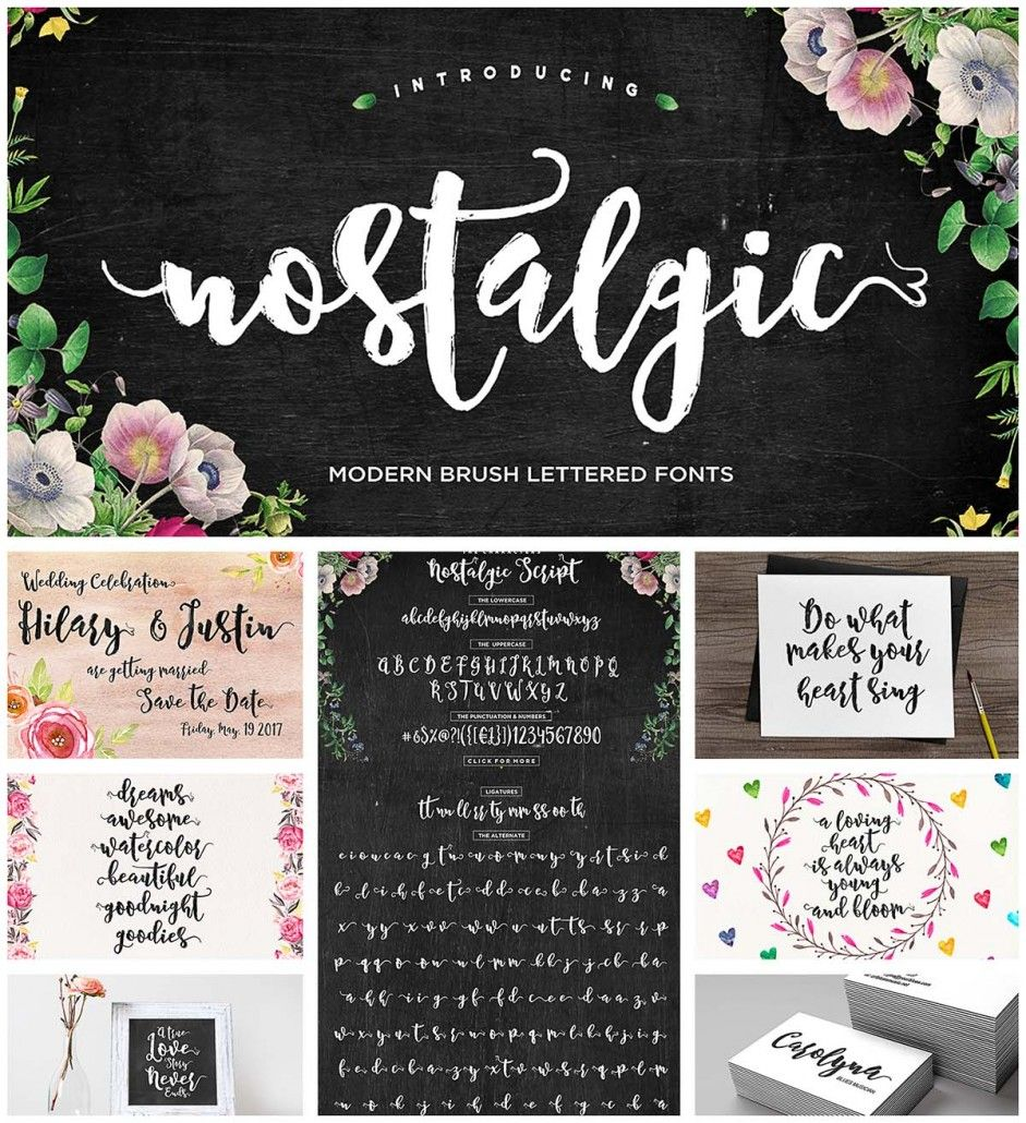 Nostalgic calligraphy font Free fonts download, Fonts