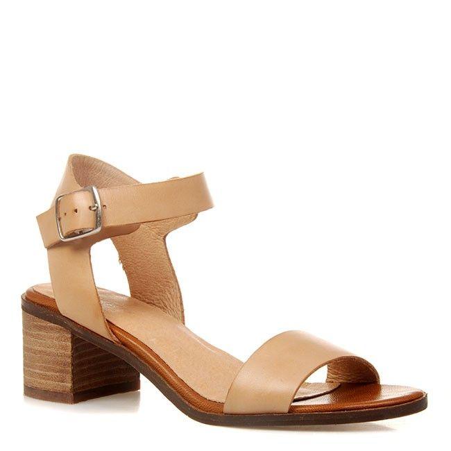 9508ec17f3c27f Joanne Mercer - Entity Heeled Sandals in Beige Leather. Heeled SandalsShoes  ...