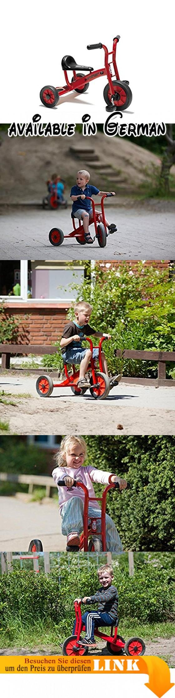 VIKING Dreirad klein (Alter: 2-4 Jahre / Lenkerhöhe 51 cm / Sitzhöhe 28 cm) von Winther. Dreirad klein (Alter: 2-4 Jahre / Lenkerhöhe 51cm / Sitzhöhe 28cm) von Winther. Hohe Qualität, Sicherheit und lange Lebensdauer.. Farbe Rahmen=rot (hochwertig pulverbeschichtet) / Sitz+Gummireifen=schwarz / Felgen=rot Hint. Hergestellt vom renomierten Hersteller Winther in Dänemark #Toy #TOYS_AND_GAMES