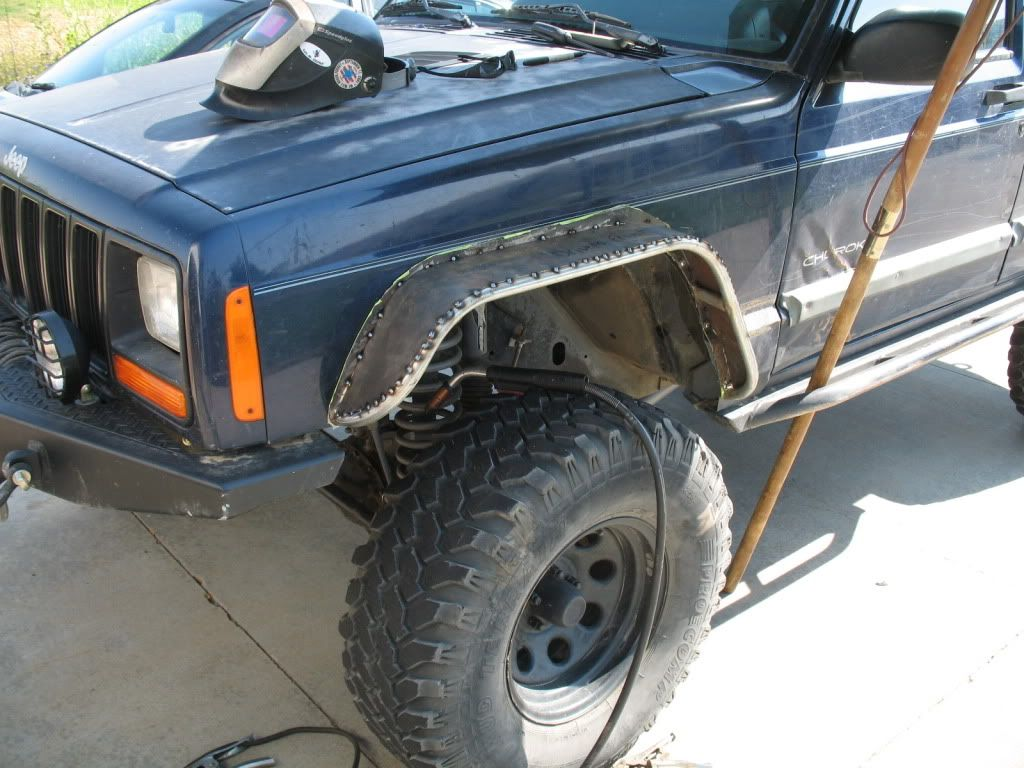 Homebrewed Fender Flares Naxja Forums North American Xj