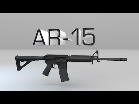 How An AR-15 Rifle Works: Part 1, Components - YouTube