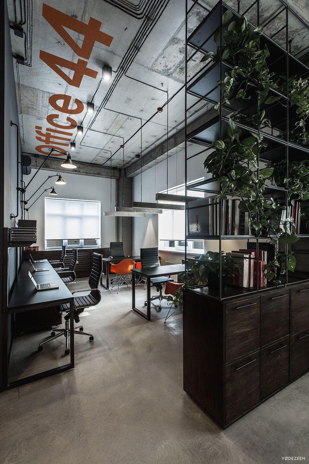 15 creative business office design ideas for men - Modern industrial interior design ...