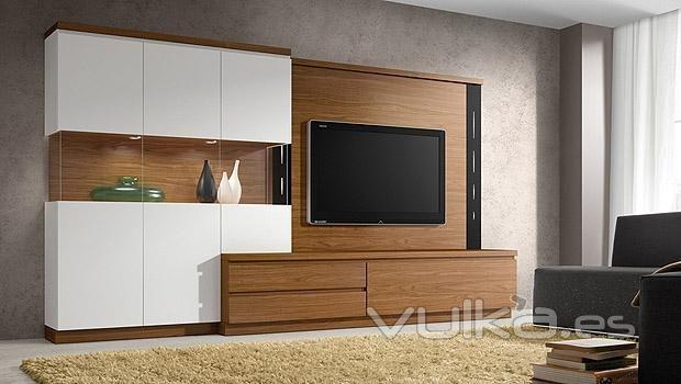 Catalogo Roma de salon comedor blanco y nogal   Furniture design ...