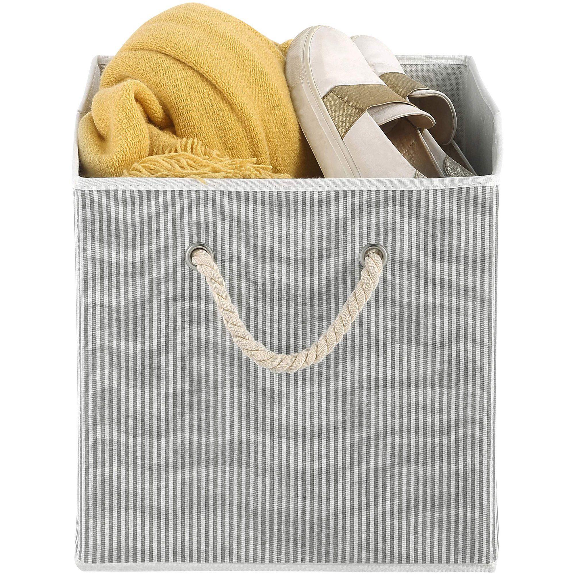Closetmaid Wire Frame Fabric Storage Bin Fabric In Tan Size 10 63 L X 19 25 W X 11 02 H Wayfair Organization Vozeli Com