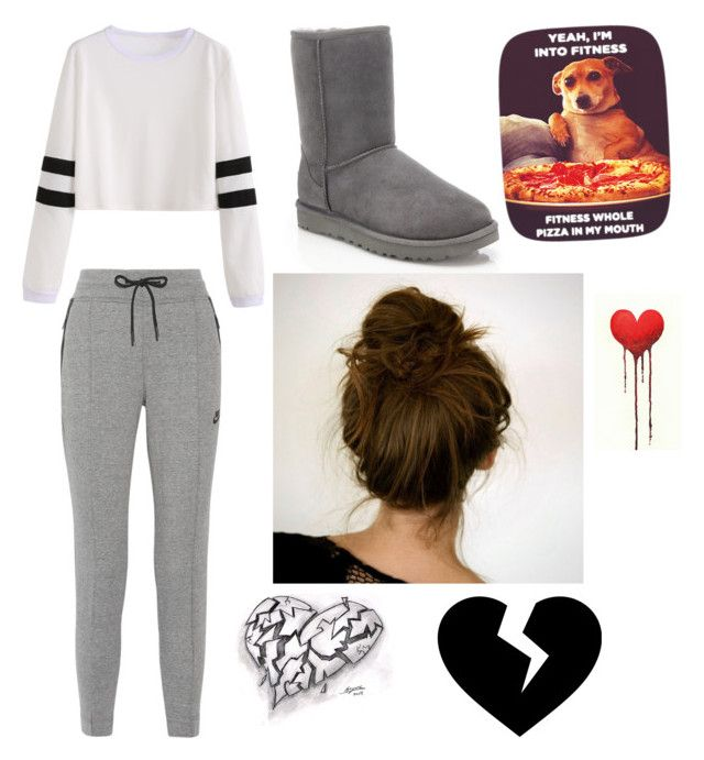 """Comfy... YESSSSS"" by familybuisness2y5 on Polyvore featuring NIKE, UGG and Fresh Prints of CT"