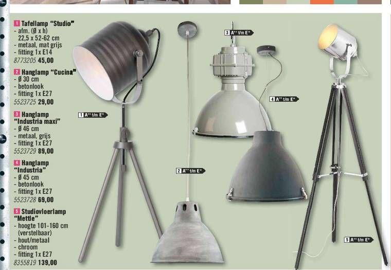 Hanglampen Vloerlampen Tafellamp Studio 22 5 Cm Metaal Mat Grijs