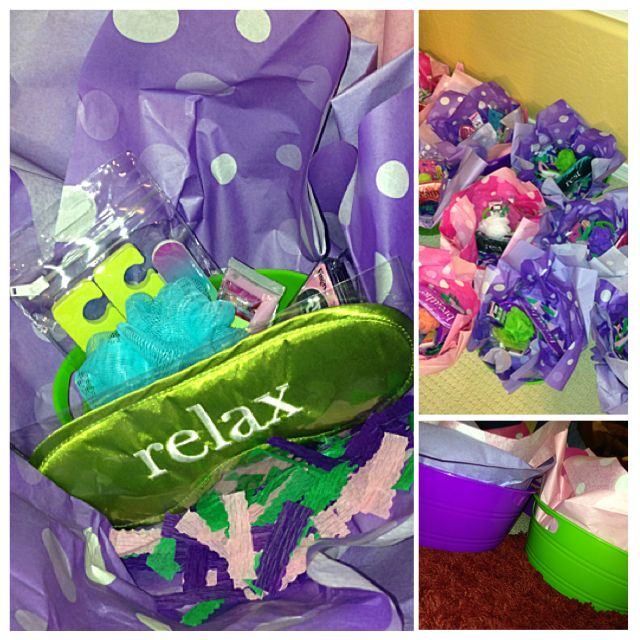 Spa party baskets under $5