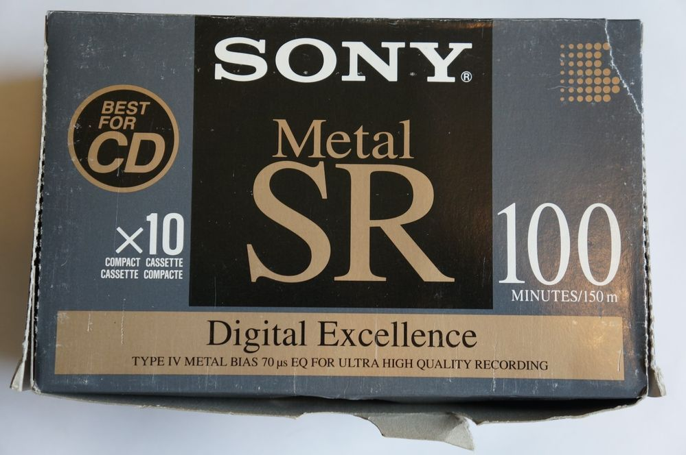 Set of 10 New Sealed Sony Metal SR 60 Cassettes Tapes Made in Japan