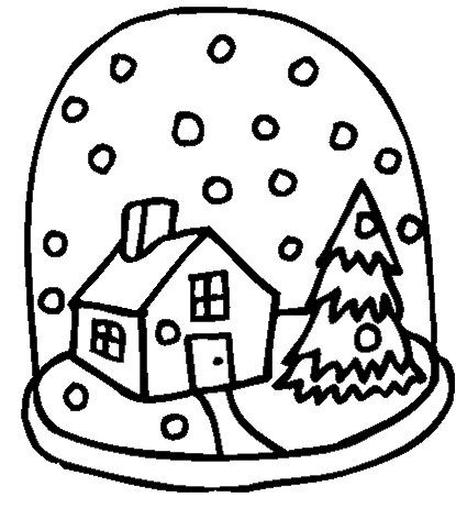 Winter Coloring Page - Print Winter pictures to color at ...