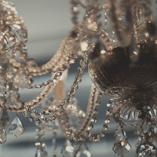 close up of a chandelier