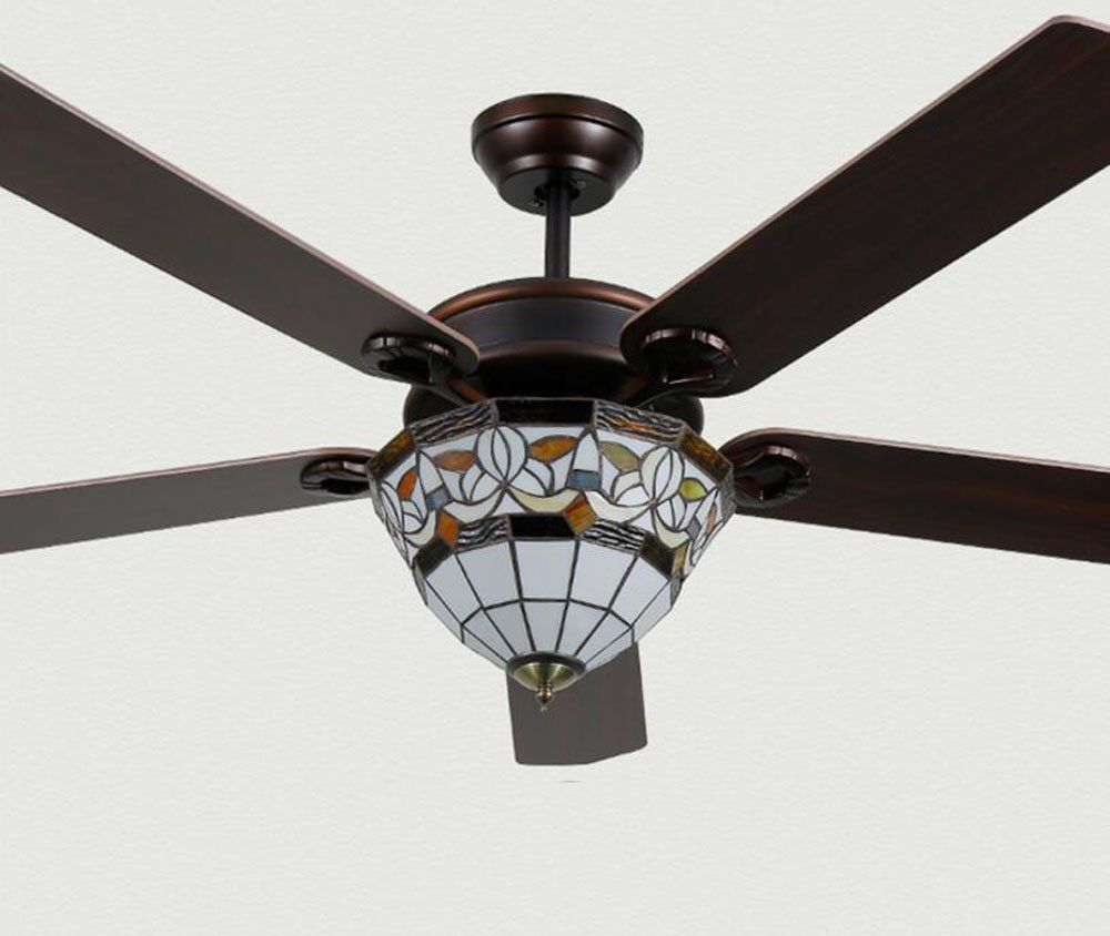 Huston Fan Northern European 42 Dimmable Ceiling Fan Light With 5 ...