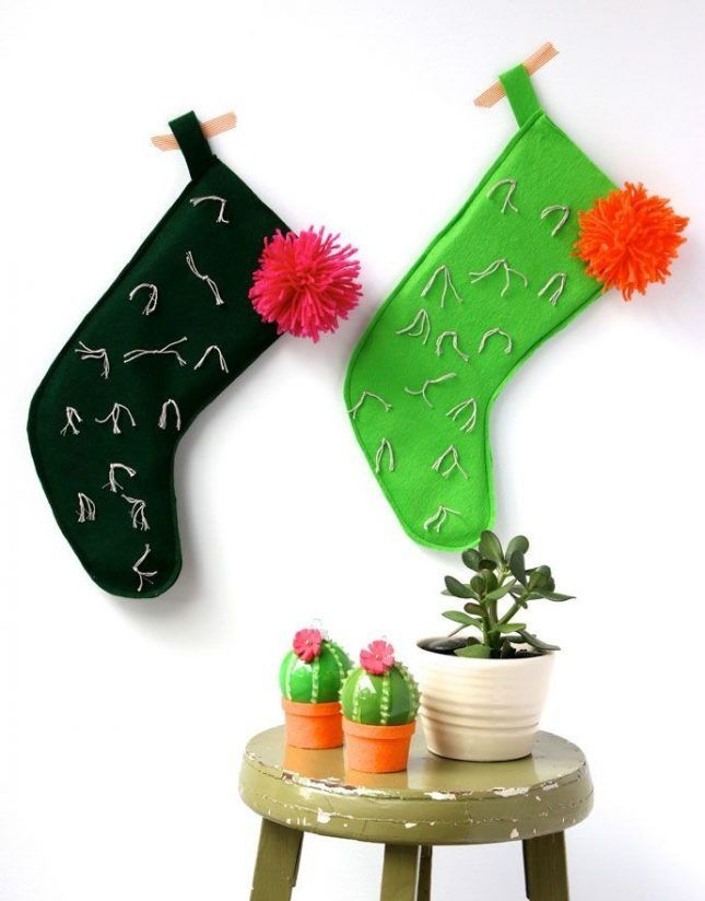 Make Your Mantle Merry With 15 Creative Stocking Ideas via Brit + Co