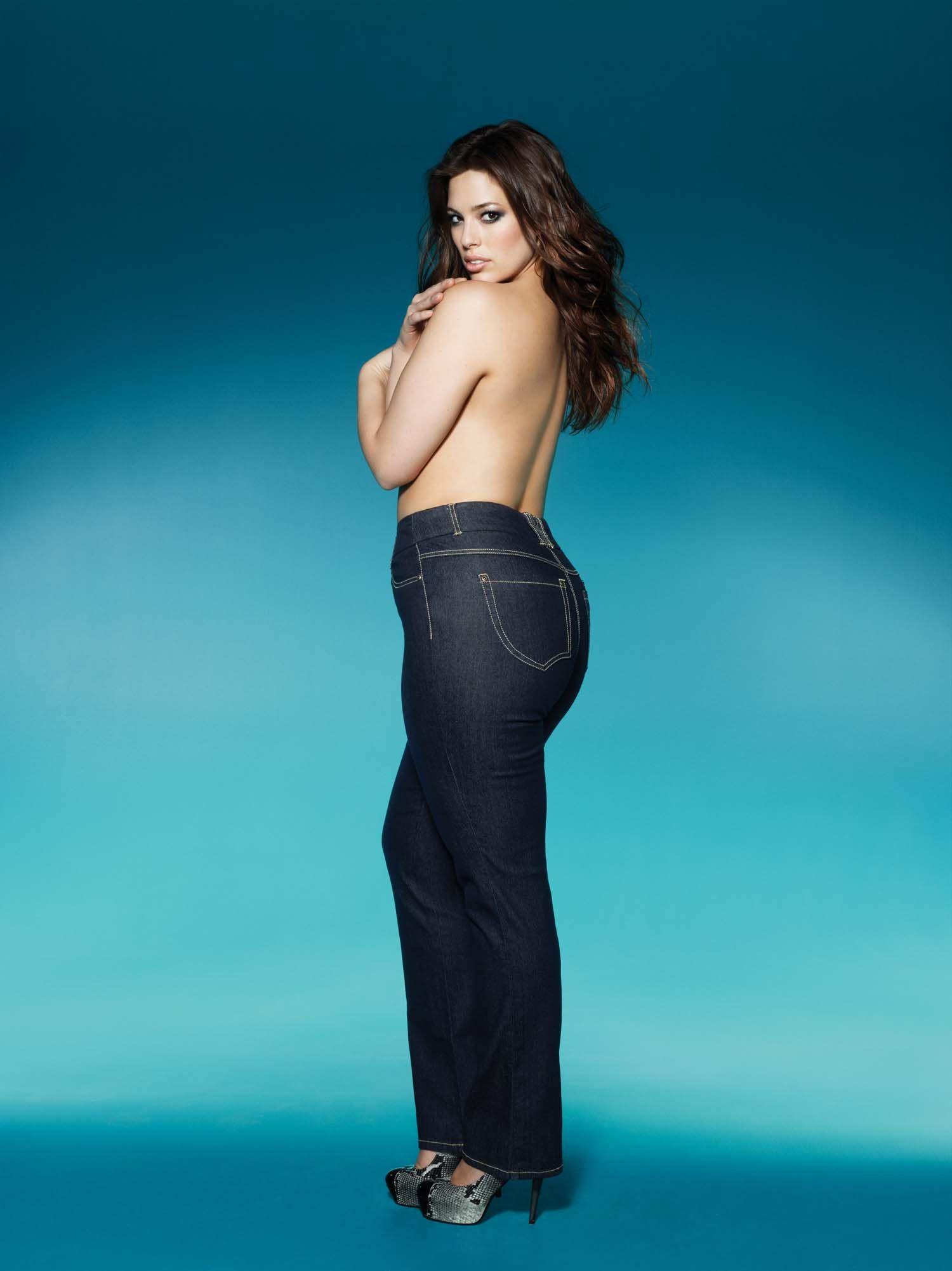 ashley graham, designer jeans, plus size, addition elle | Ashley ...