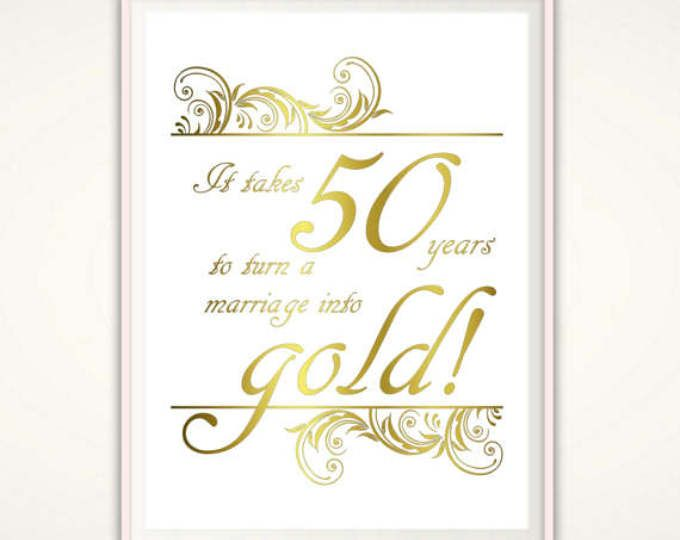 50th Anniversary Gifts For Parents