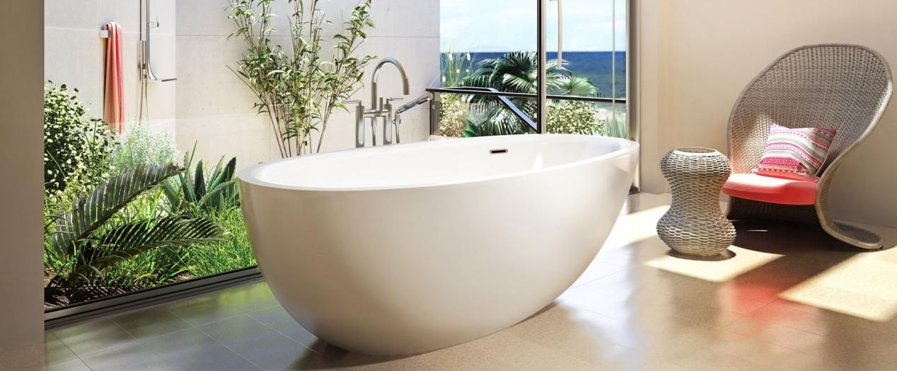 Bainultra Essencia Design Freestanding Air Jet Bathtub For Your
