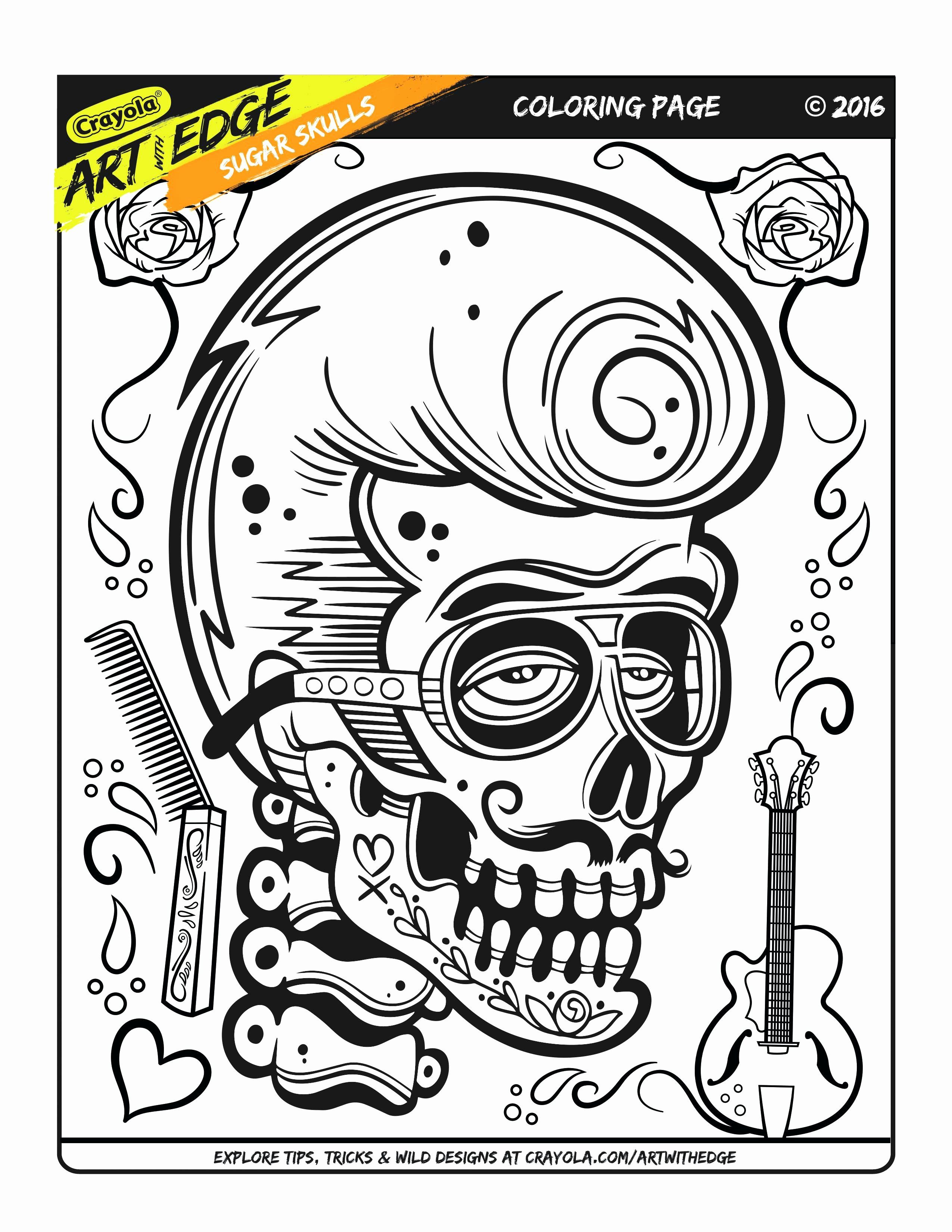 Printable Adult Coloring Pages Skulls Beautiful Crayola ...