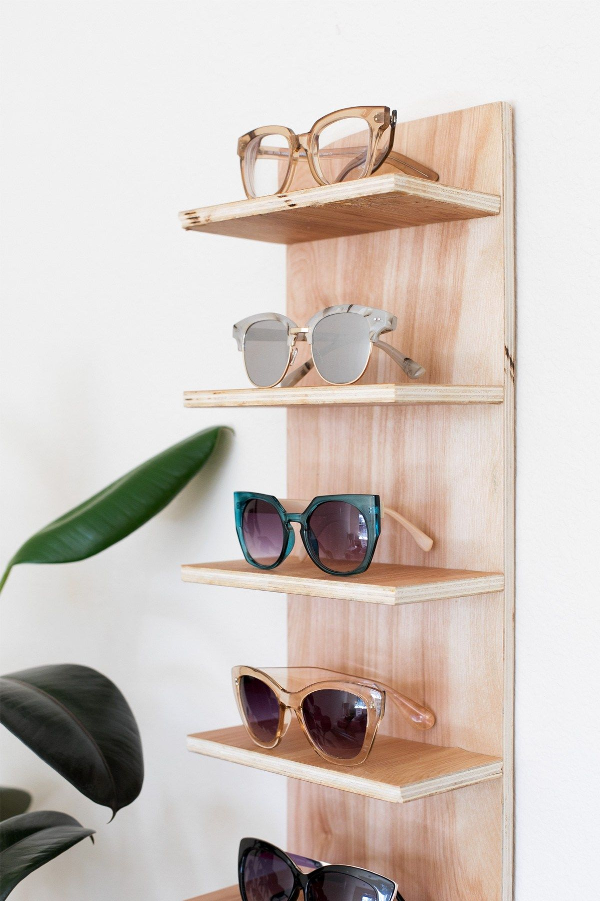 Grey Sunglasses Rack Holder Glasses Case Glasses Case Interior