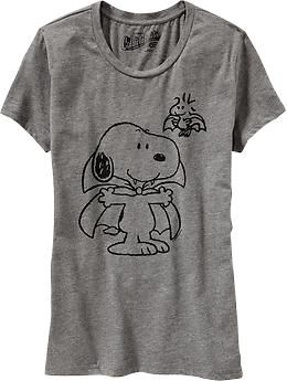 d84269882 Womens Snoopy® Halloween Graphic Tees..wondering if I'm too old to wear  this...cute! I'm a Snoopy fan.