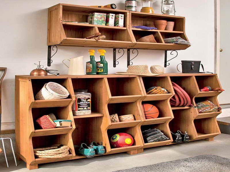 Natural Fir Wood Wall Mounted Cubby Storage Organizar La Casa Furniture Muebles Muebles