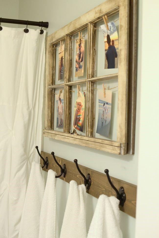 Modern Farmhouse Inspired Bathroom Makeover One Room