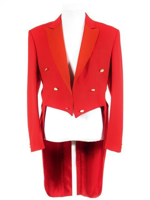 Toastmaster Tailcoat - Mens Red Tailcoat - Ex-Hire Formalwear for Sale cbbeba69539