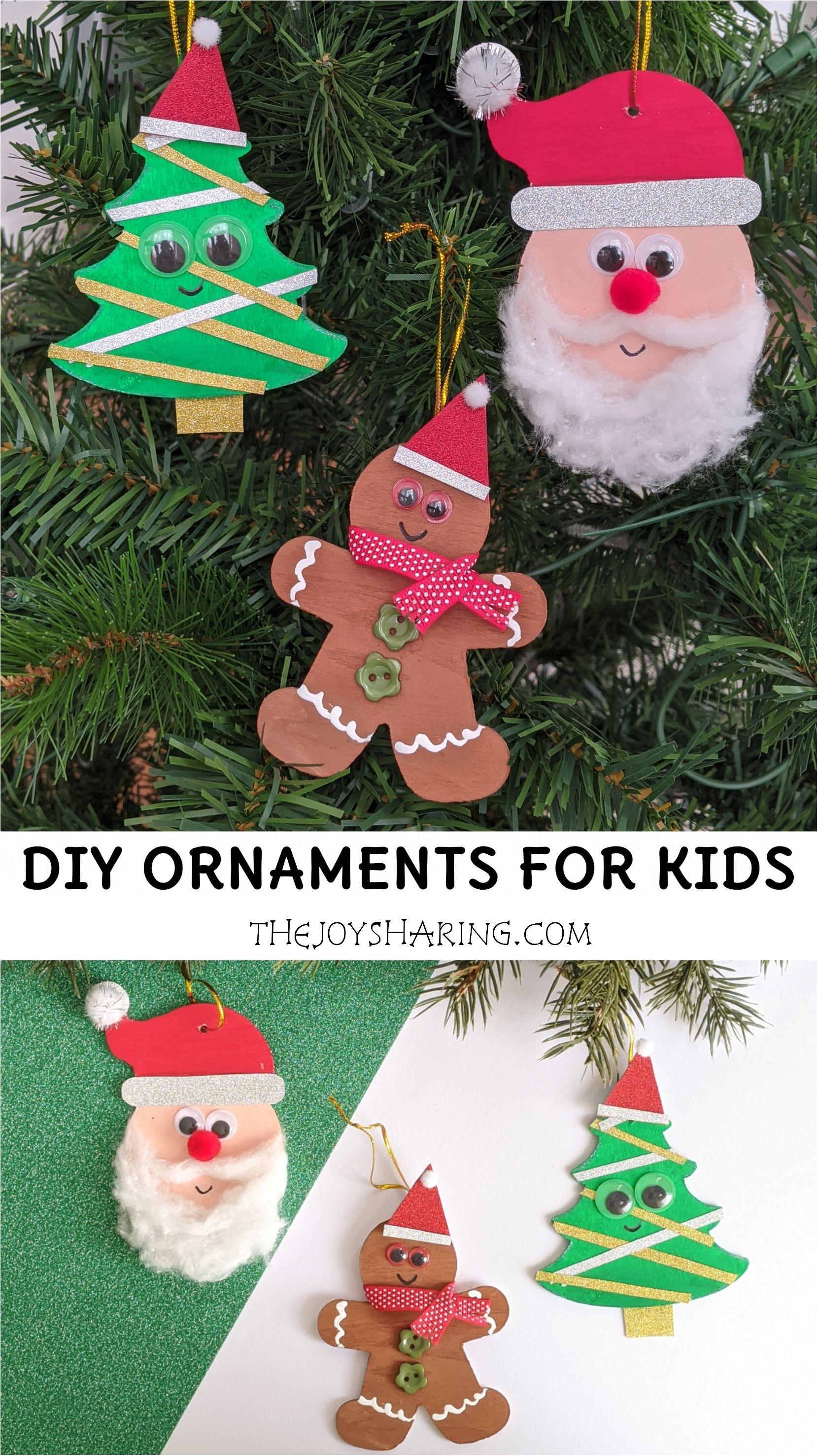 Diy Christmas Ornaments For Kids Kids Christmas Ornaments Fun Christmas Activities Preschool Christmas Activities