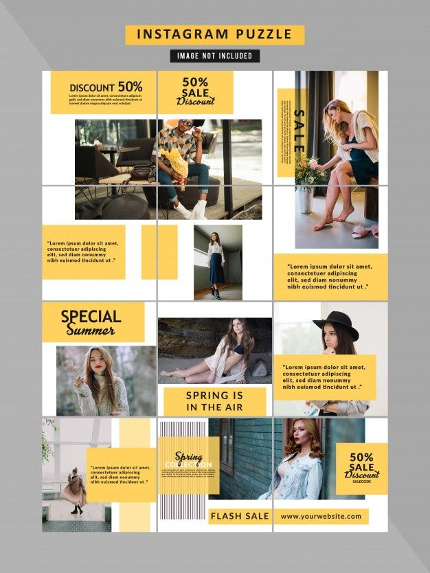 Fashion Social Media Puzzle Template