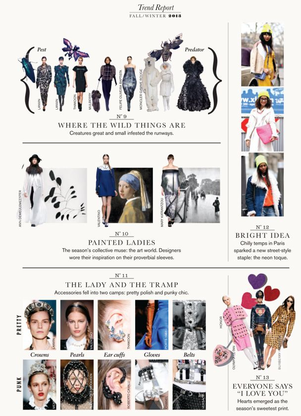 Fall 2013 Trend Report : Fall 2013 Trend Report: Painted ...