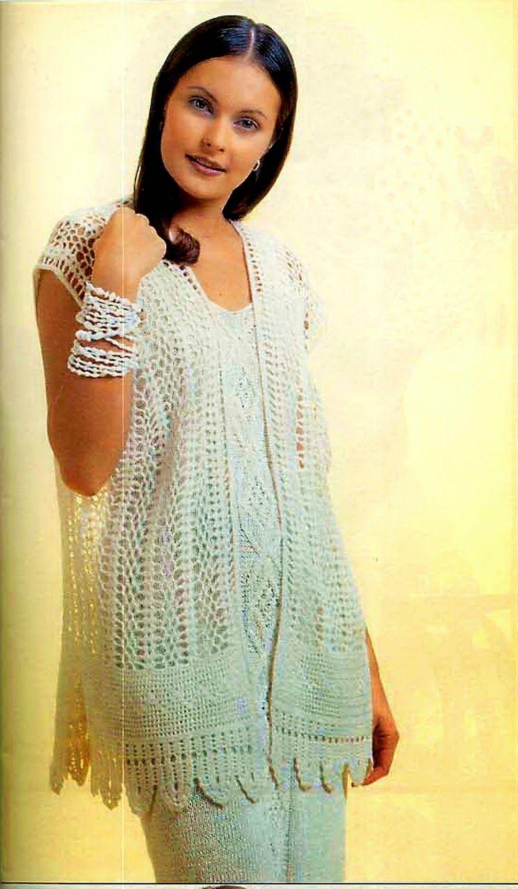 Patrones de chaleco de dama para tejer con ganchillo | ropa y cosas ...