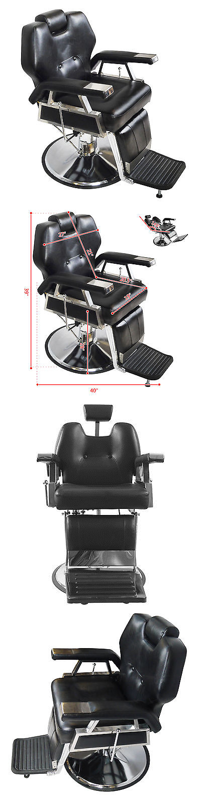 Stylist Stations and Furniture: Hydraulic Recline Barber Chair Heavy Duty Shampoo Salon Beauty Spa Hair Styling -> BUY IT NOW ONLY: $259.9 on eBay!