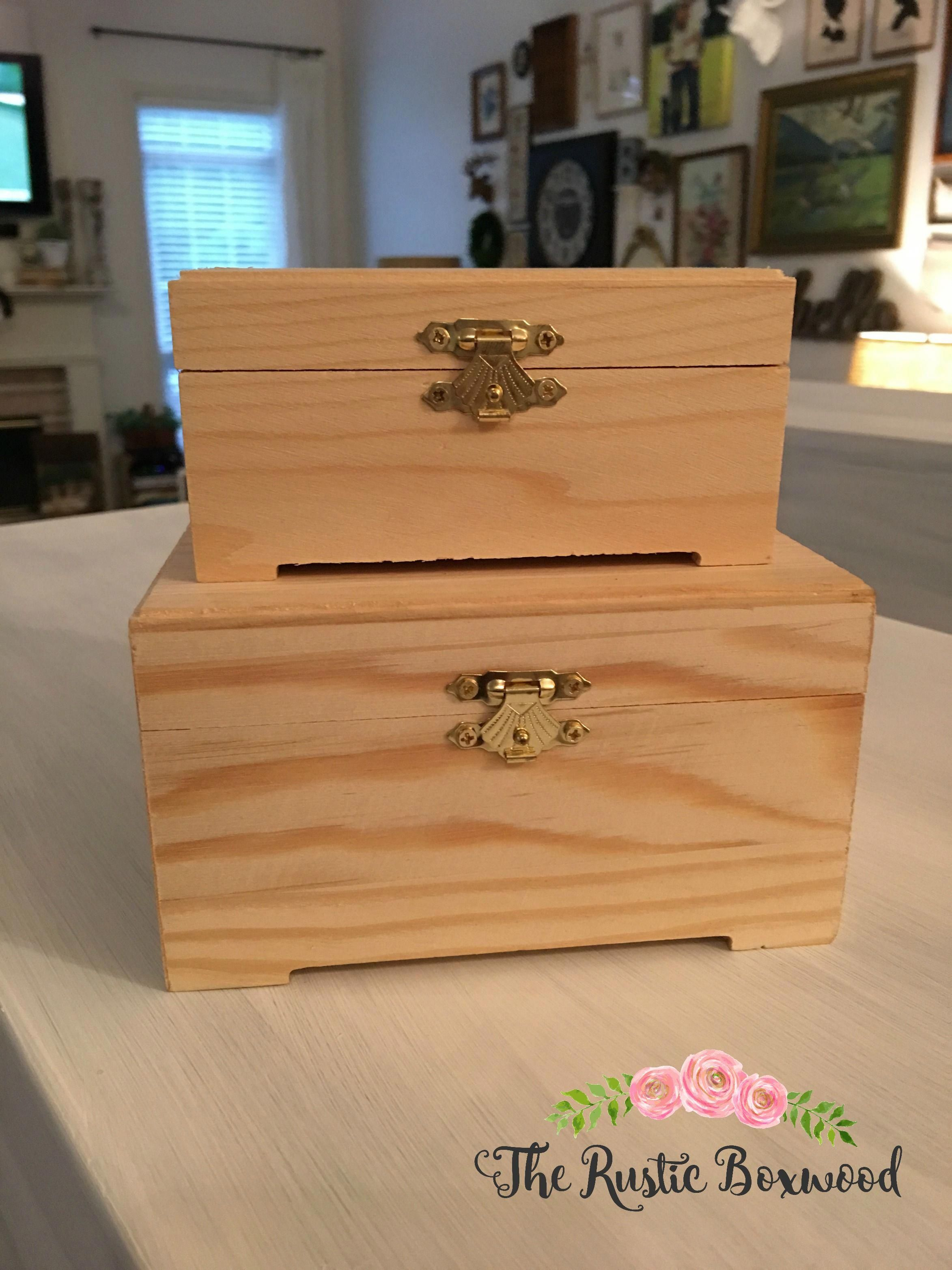 DIY: Color-Blocked, Wooden Boxes using DecoArt's Extreme Sheen Paint