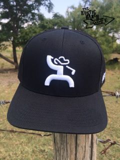 free shipping c9612 b6560 Black trucker snapback Features HOOey Golf Man design in white Back of the  cap features black mesh Black adjustable snap Right side of hat HOOey  scoreline ...