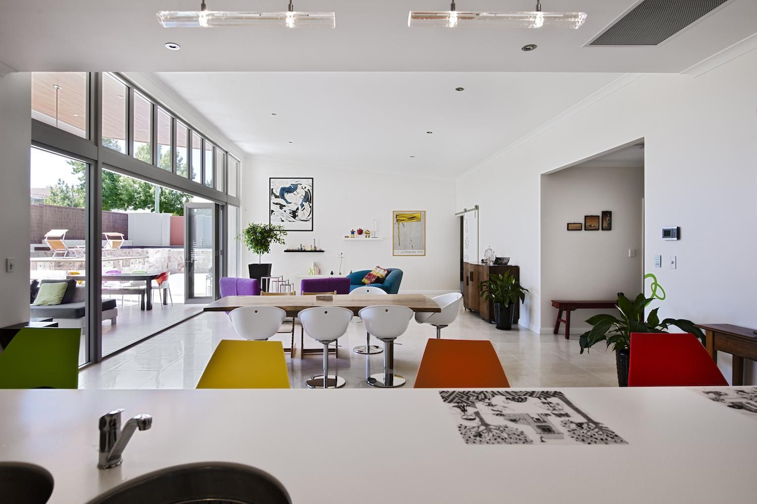 This custom designed super funky single storey family home was