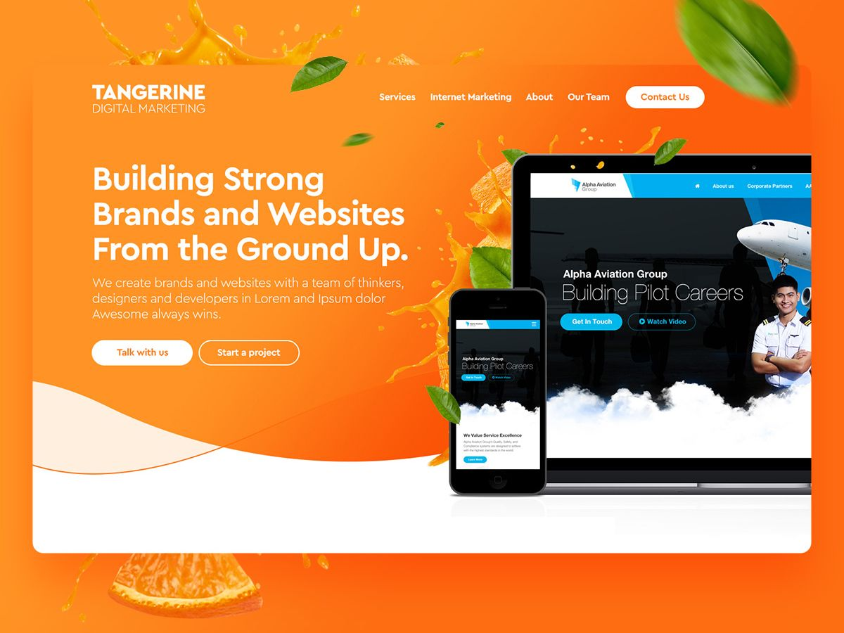 Tangerine Digital Marketing Website Design Digital Marketing Website Design Marketing Website